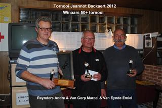 Tornooi Jeannot Backaert 2012